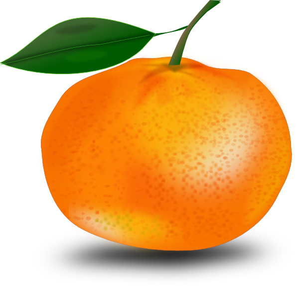 Lemons clipart gambar. Orange with leaf clip