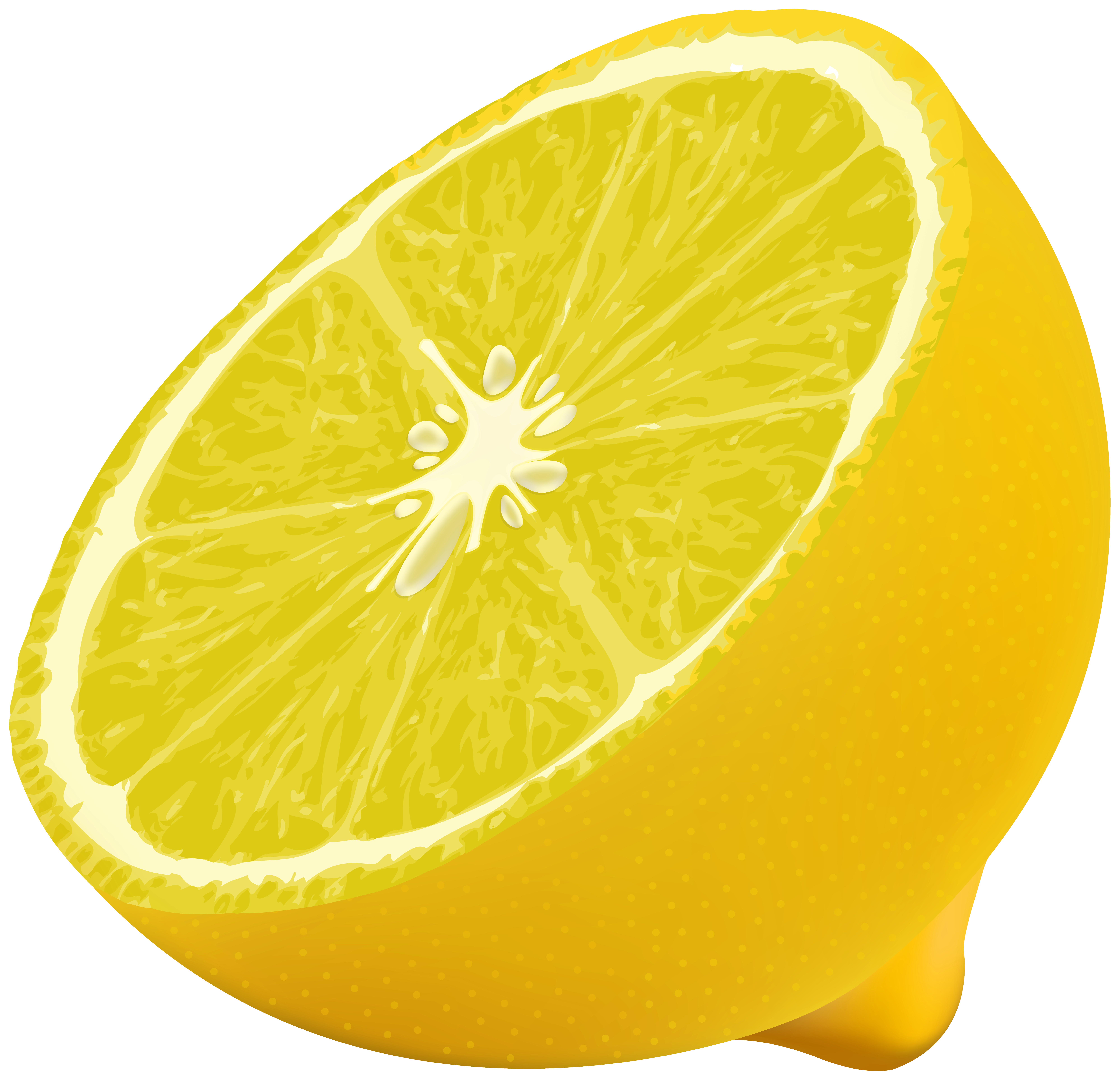 Half lemon png image. Lemons clipart high resolution