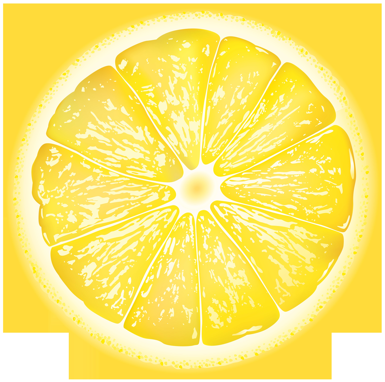 Round lemon slice png. Lemons clipart sliced