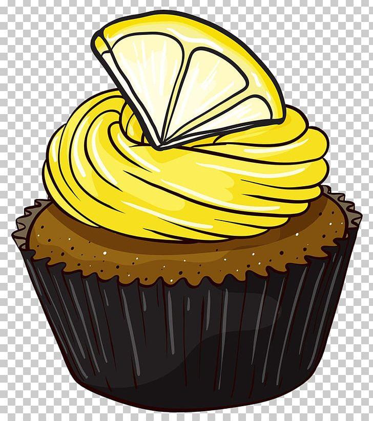 Cupcake icing png baking. Lemon clipart lemon cake