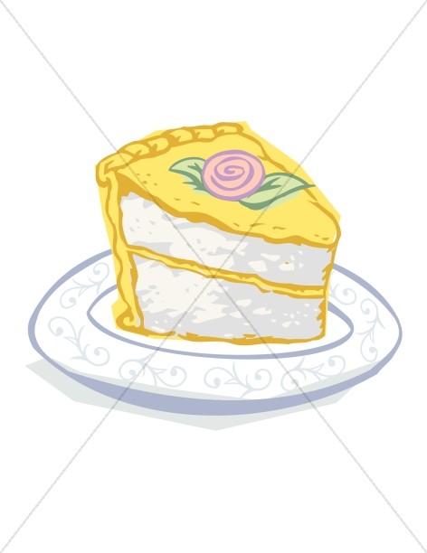 Lemon clipart lemon cake. Slice church birthday
