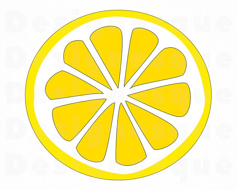 Lemon svg slice files. Lemons clipart sliced