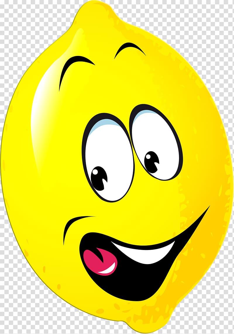 Lemon cartoon humour transparent. Lemons clipart smiley