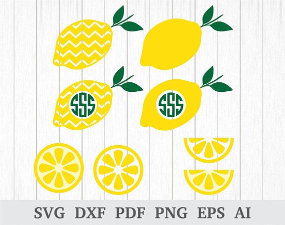 Lemons clipart svg. Lemon monogram lemonade citrus