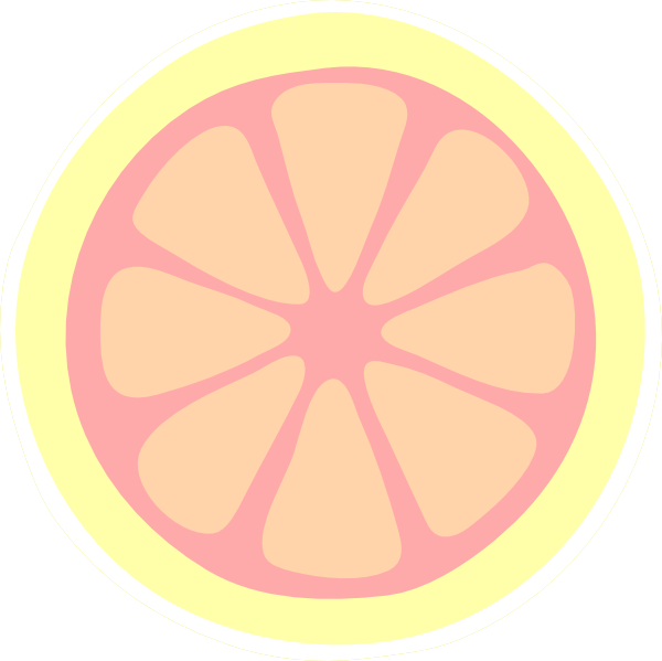 Pink lemon slice clip. Lemons clipart lemonade