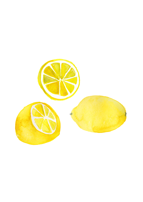 Two are better than. Lemons clipart painted