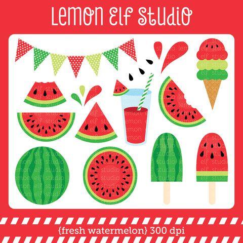 Fresh digital les cl. Lemon clipart watermelon