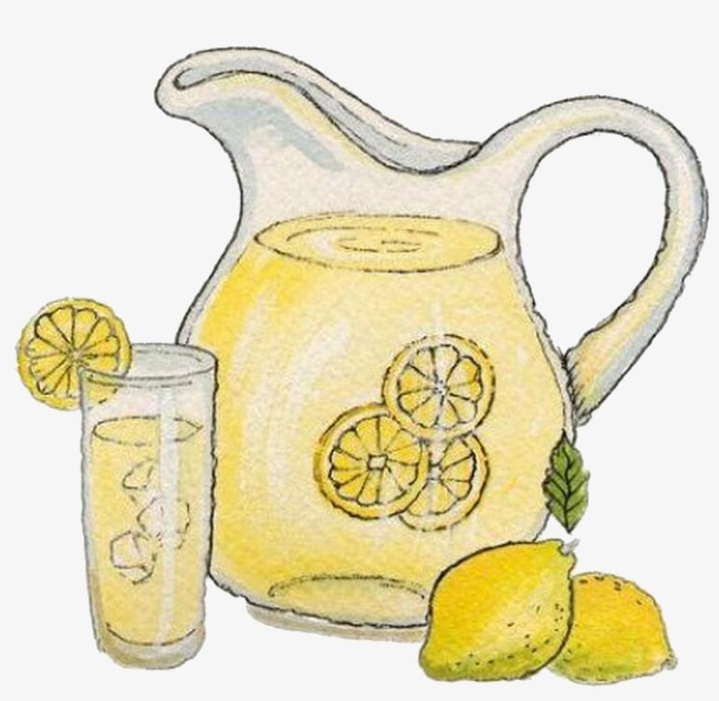 Creative cartoon png image. Lemonade clipart
