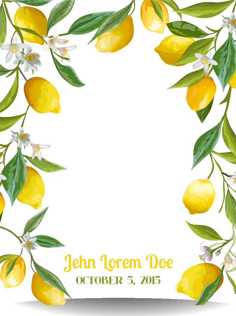 Lemon fresh transprent png. Lemons clipart border