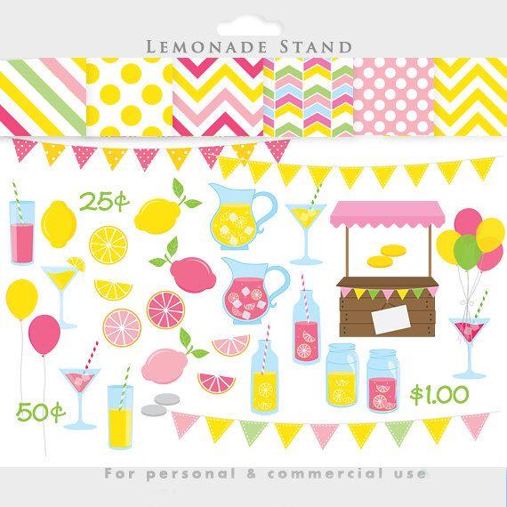 Pink stand clip art. Lemonade clipart shop