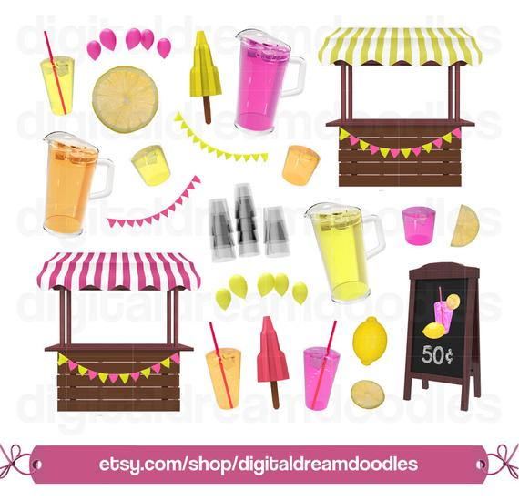 Clip art stand graphic. Lemonade clipart shop