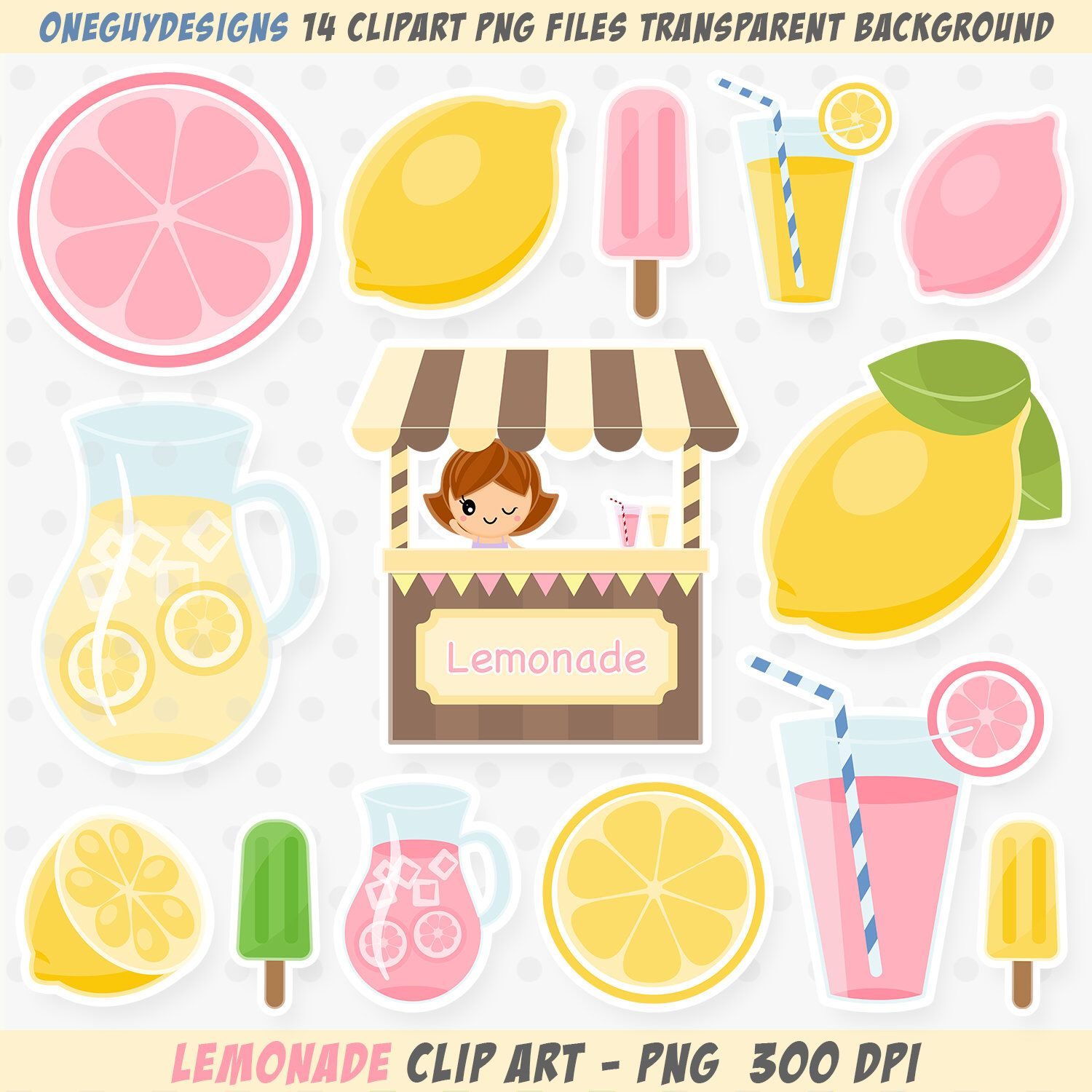 Lemonade clipart shop. Pink lemon clip art