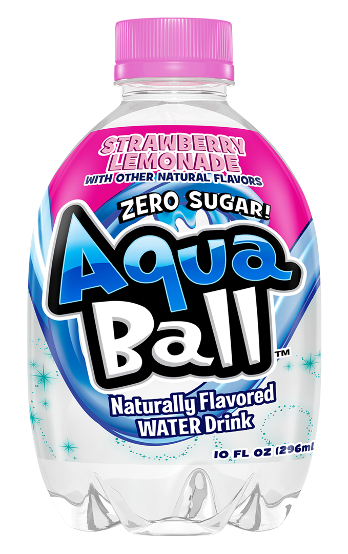Aquaball naturally flavored water. Lemonade clipart welcome drink