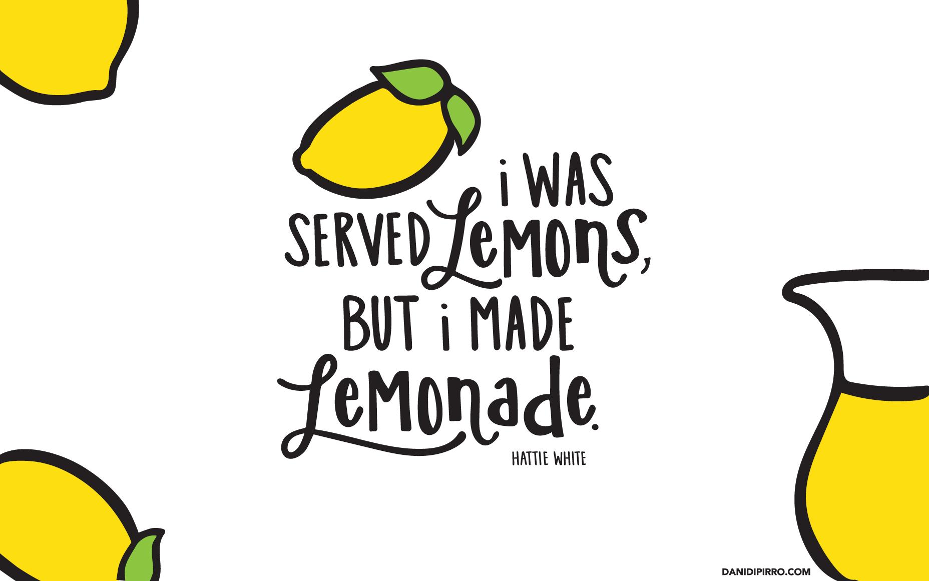Free desktop background designed. Lemonade clipart yellow colour object