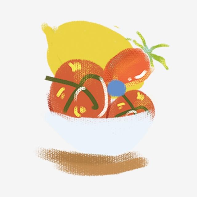 Lemons clipart cherry. Bowl lemon tomato food