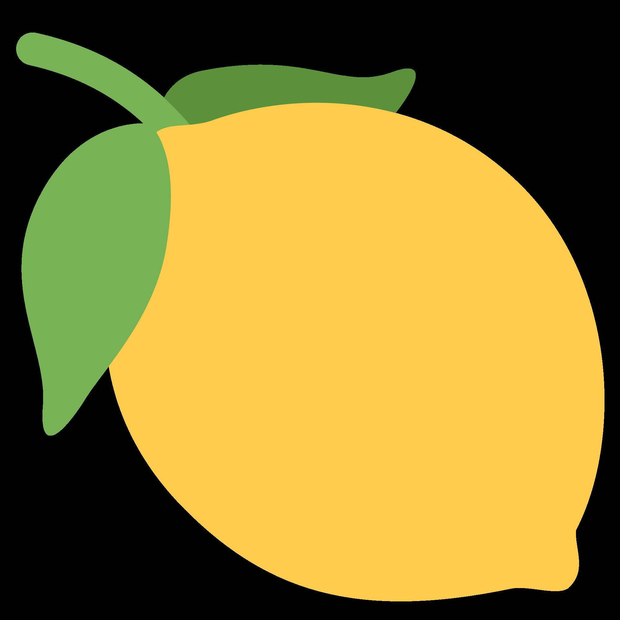Lemons clipart citrus tree. File twemoji f b