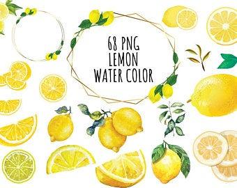 Lemon etsy . Lemons clipart citrus