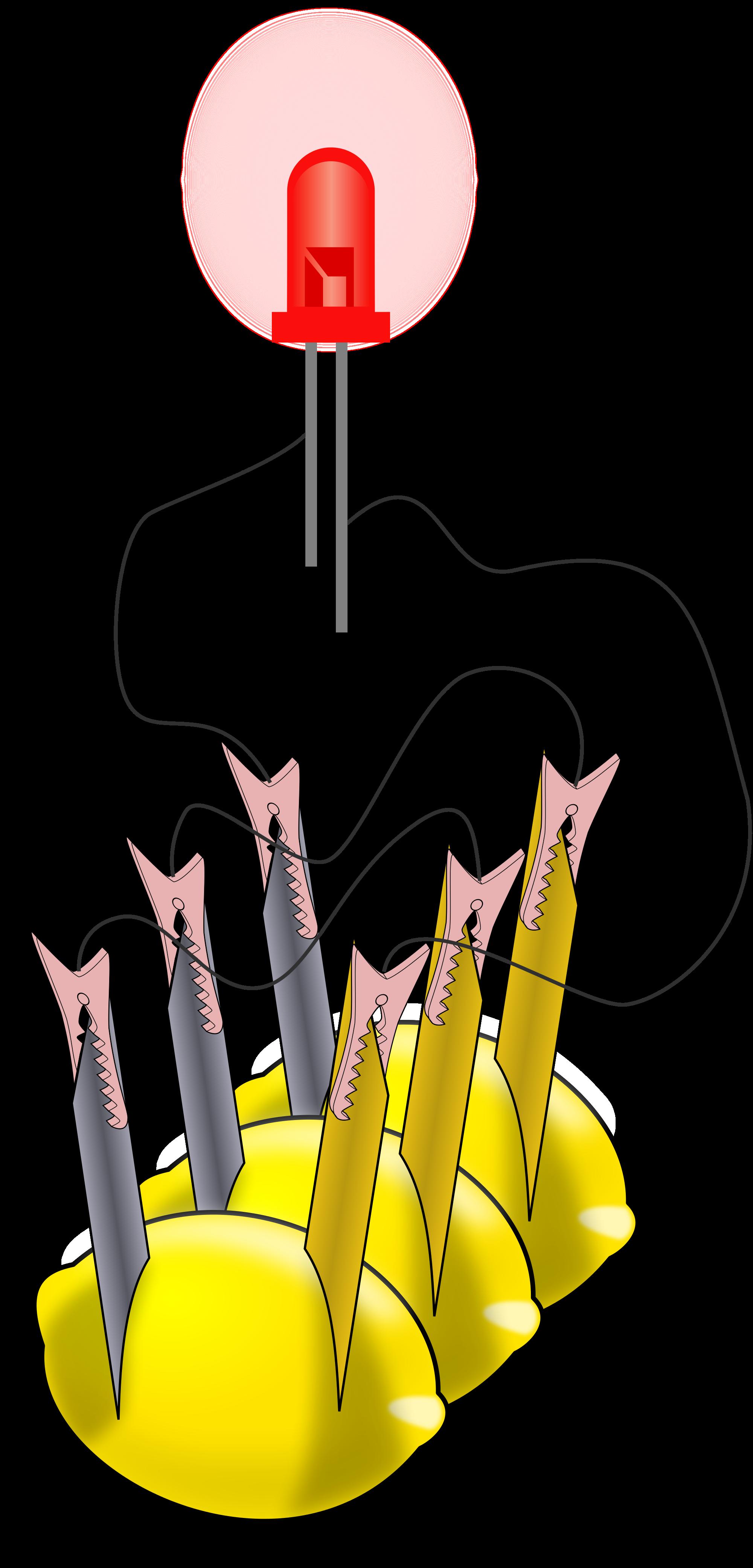 Lemons clipart lemon battery. File with led svg
