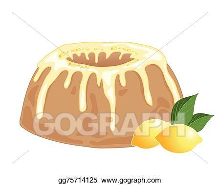 Vector stock drizzle illustration. Lemons clipart lemon cake