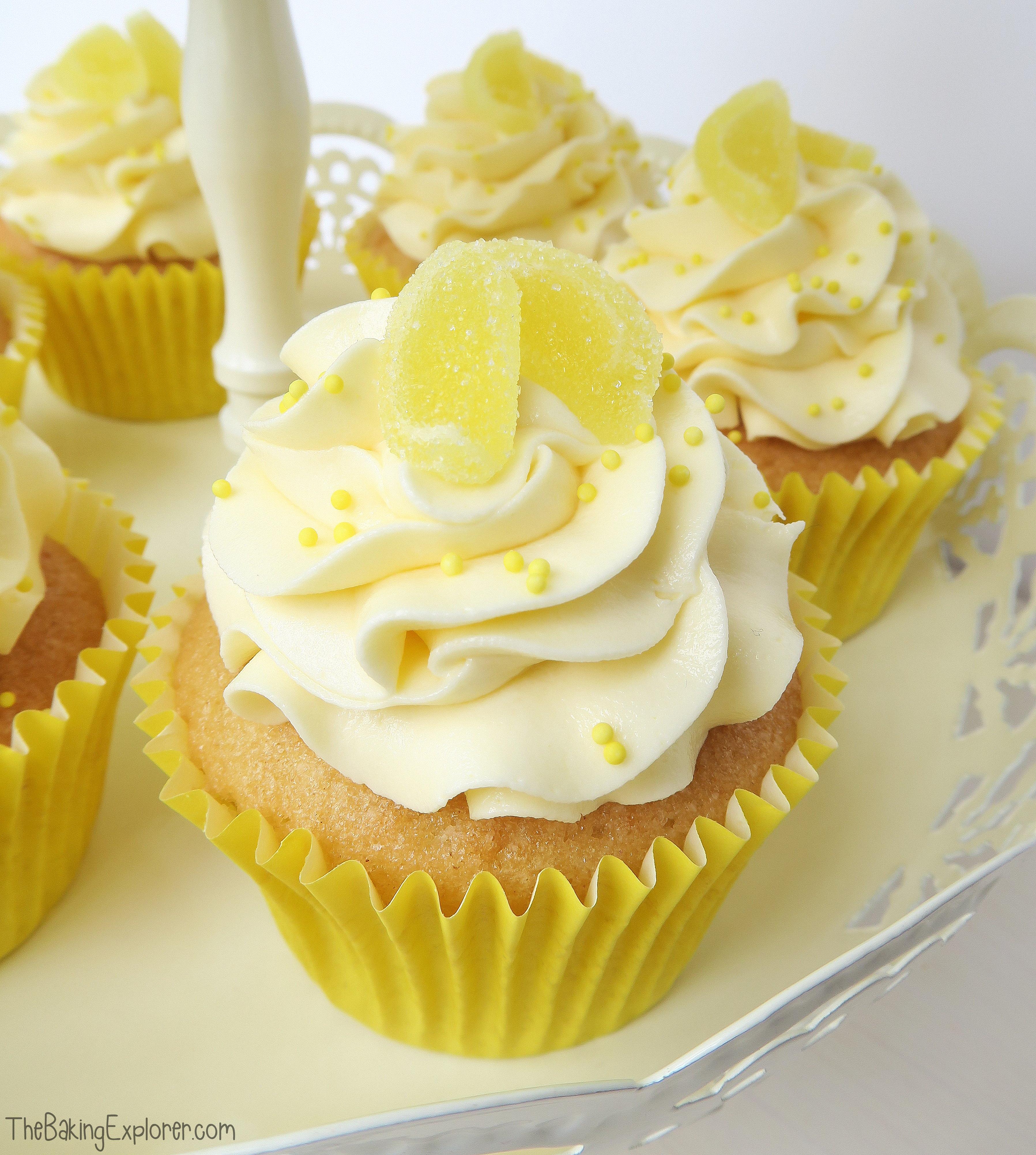 Cupcakes with curd filling. Lemons clipart lemon cupcake
