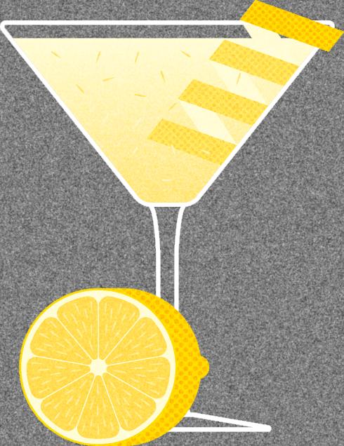 Seasoned greetings from herring. Lemons clipart lemon drop