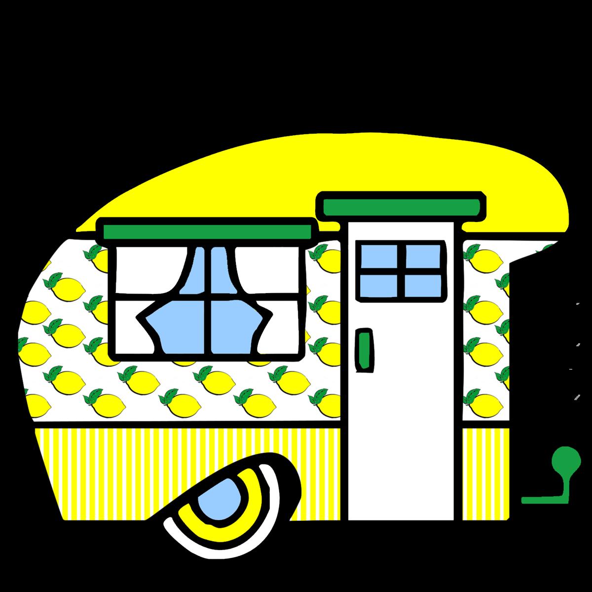 Lemons clipart lemon drop. Camper sweet home