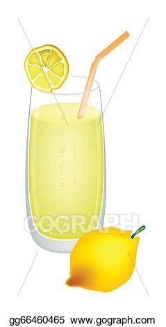 Vector stock glass of. Lemons clipart lemon juice