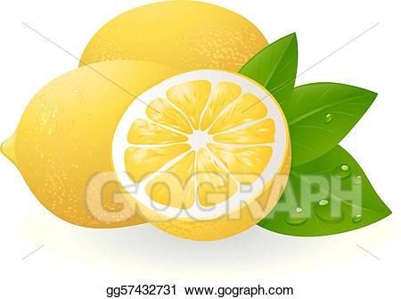 Eps illustration fresh with. Lemons clipart lemon leaf