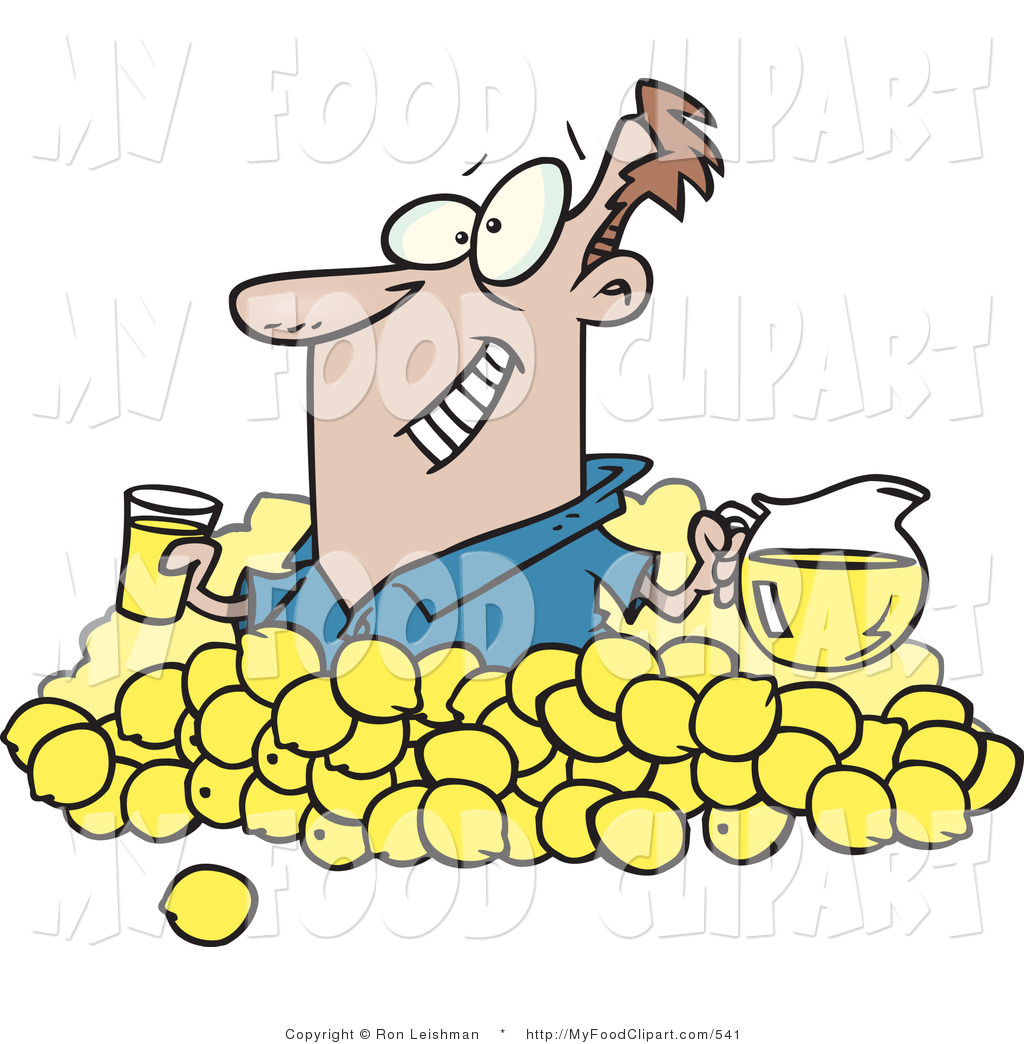 Lemons clipart man. Food clip art of