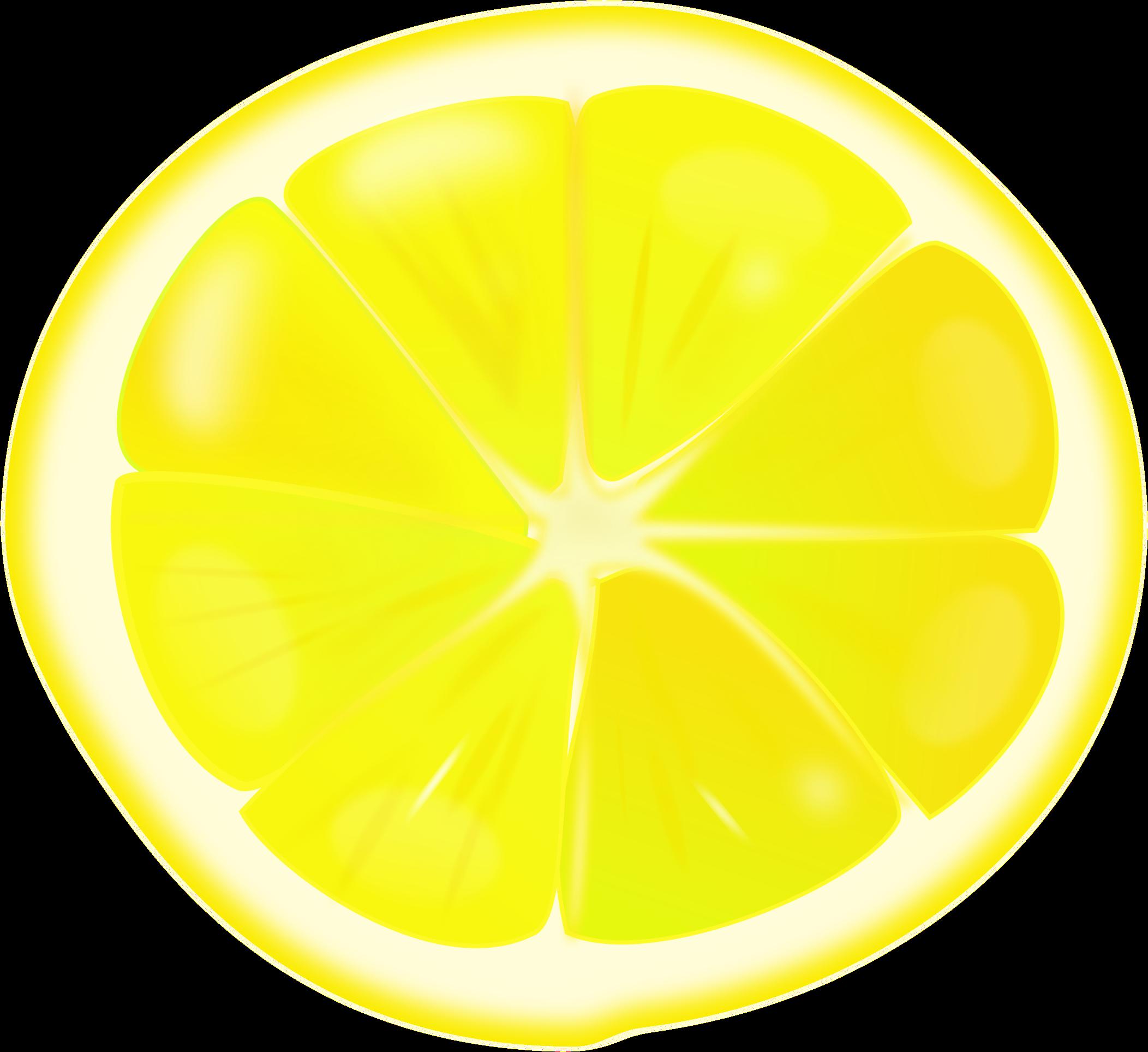 Lemons clipart sliced. Lemon slice big image