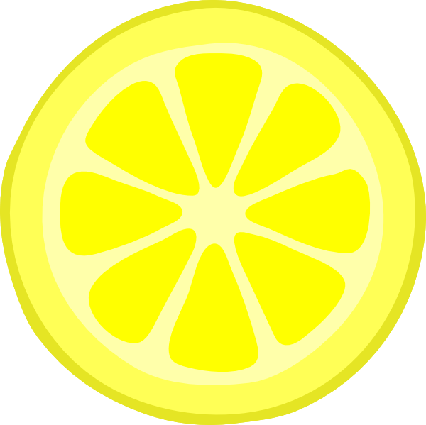 Lemon Slice Clip Art at Clker