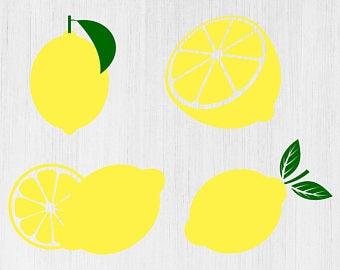 Lemons clipart svg. Lemon etsy