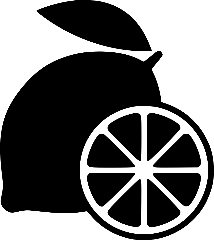 Lemon garnish png icon. Lemons clipart svg
