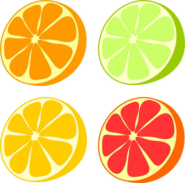 Lemons clipart vector. Grapefruit citrus free collection