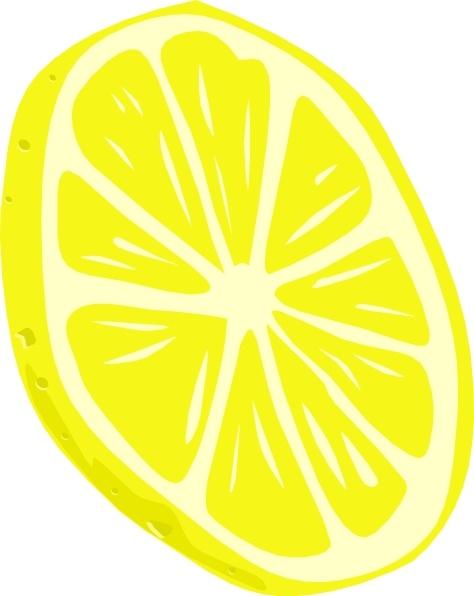 Lemon slice clip art. Lemons clipart vector