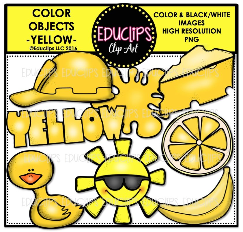 Color objects clip art. Lemons clipart yellow object