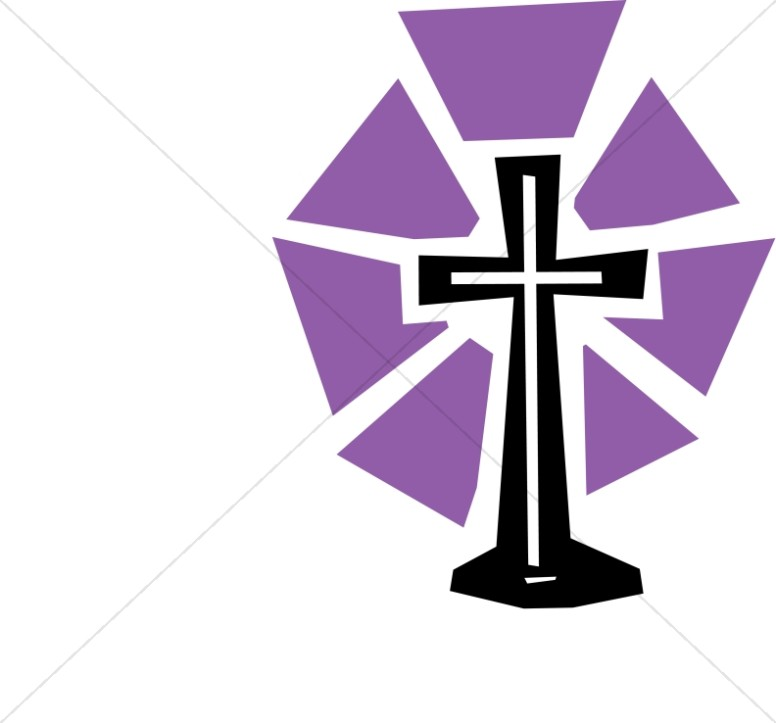 Cut out cross with. Lent clipart