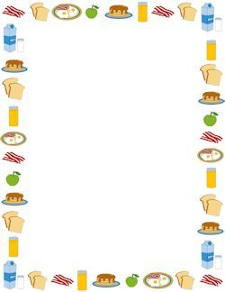 Lent clipart border. Breakfast format food page