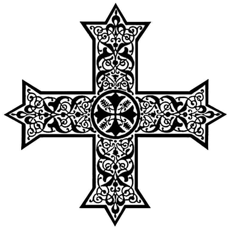 Crosses in liturgical colors. Missions clipart coptic