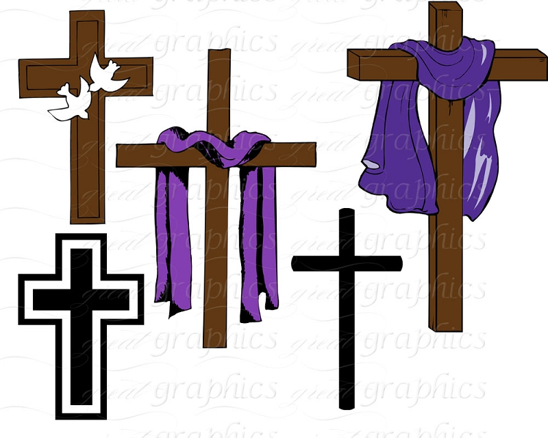 Collection of free download. Lent clipart purple easter cross