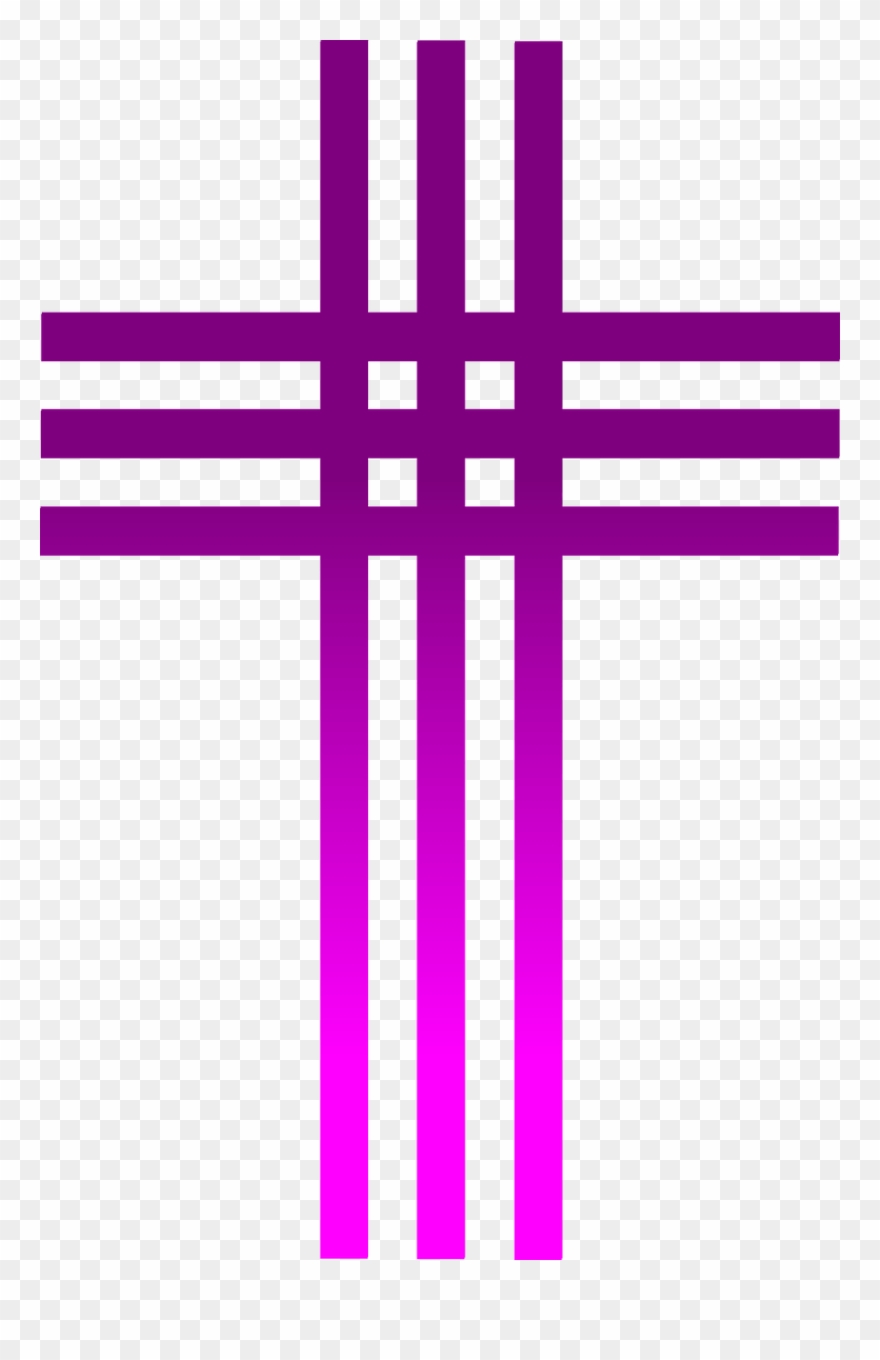 Cloth covered transparent png. Lent clipart purple easter cross