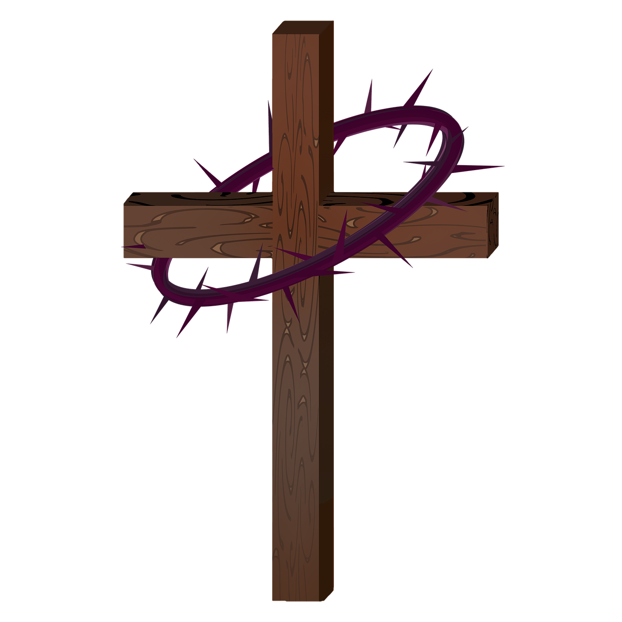 Lent clipart purple easter cross. Crown thorns free photo