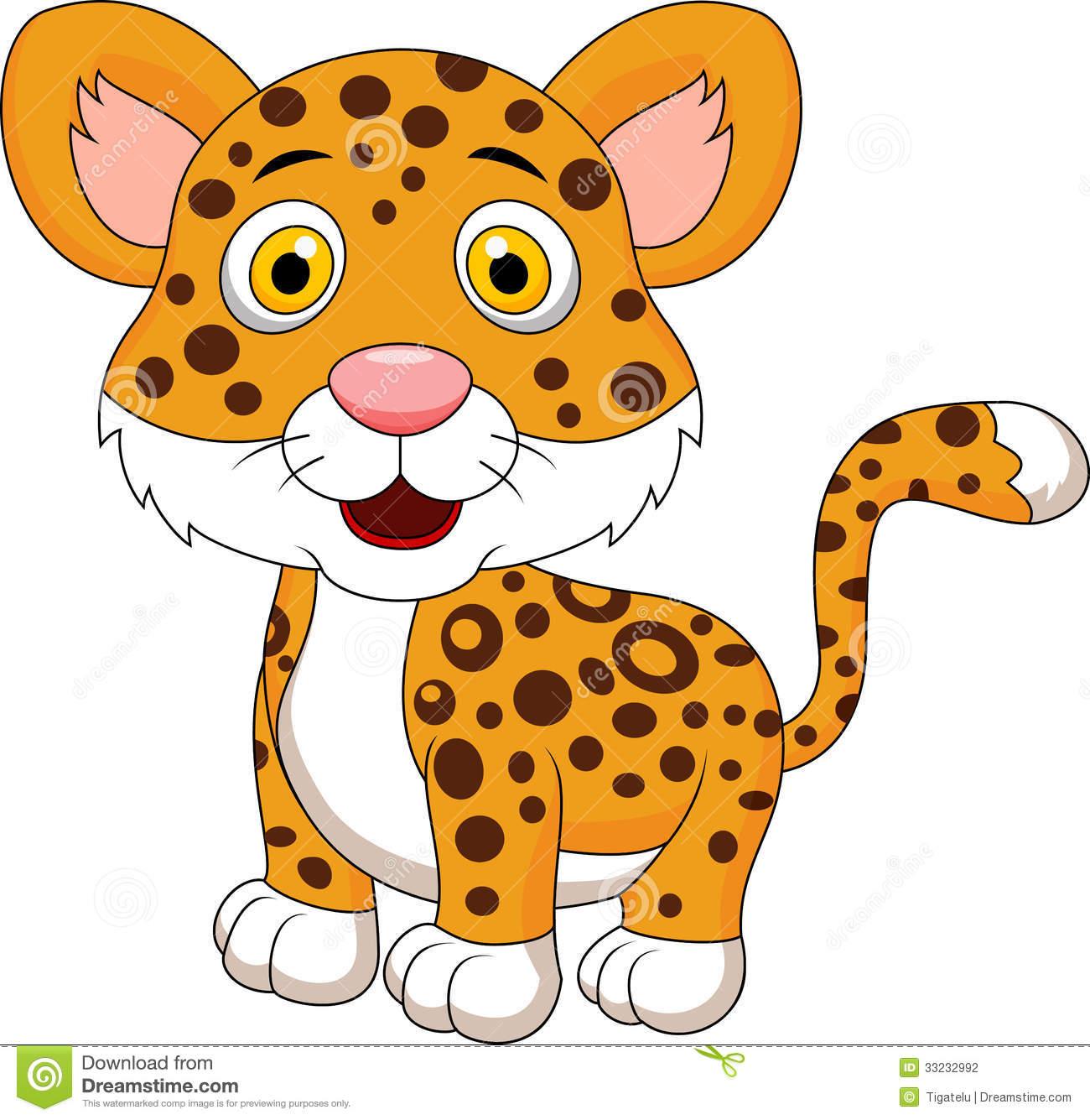 Leopard clipart. Cartoon