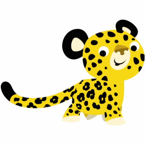 Free cartoon pictures download. Leopard clipart cute