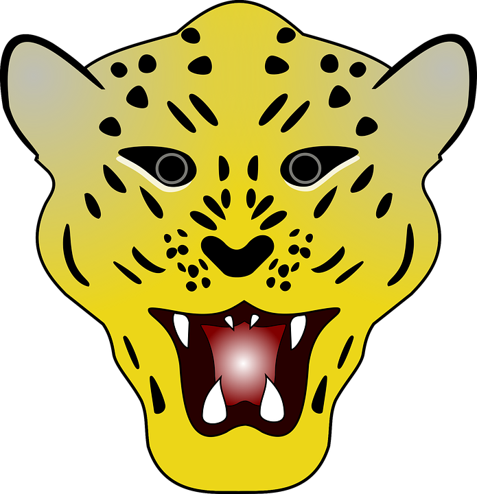 Collection of simple cliparts. Leopard clipart cute