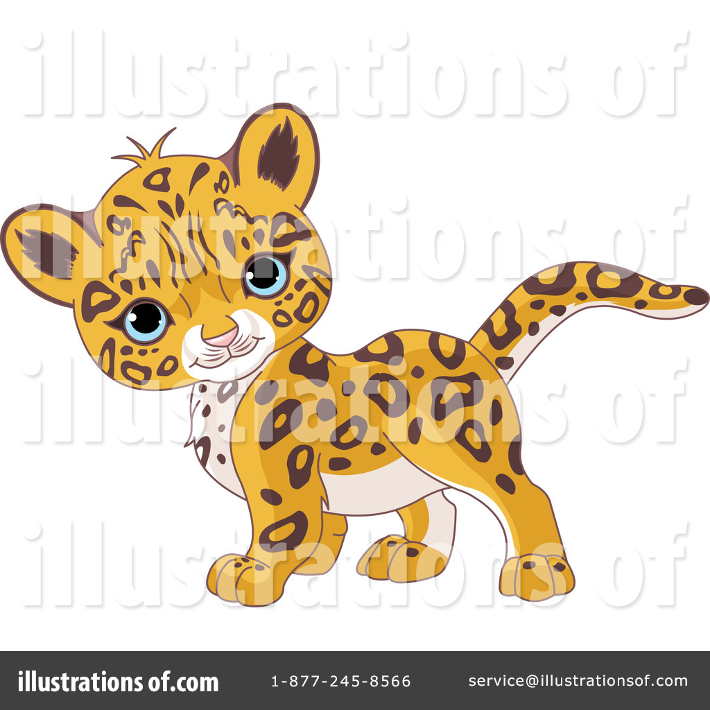 Leopard clipart cute. Illustration by pushkin