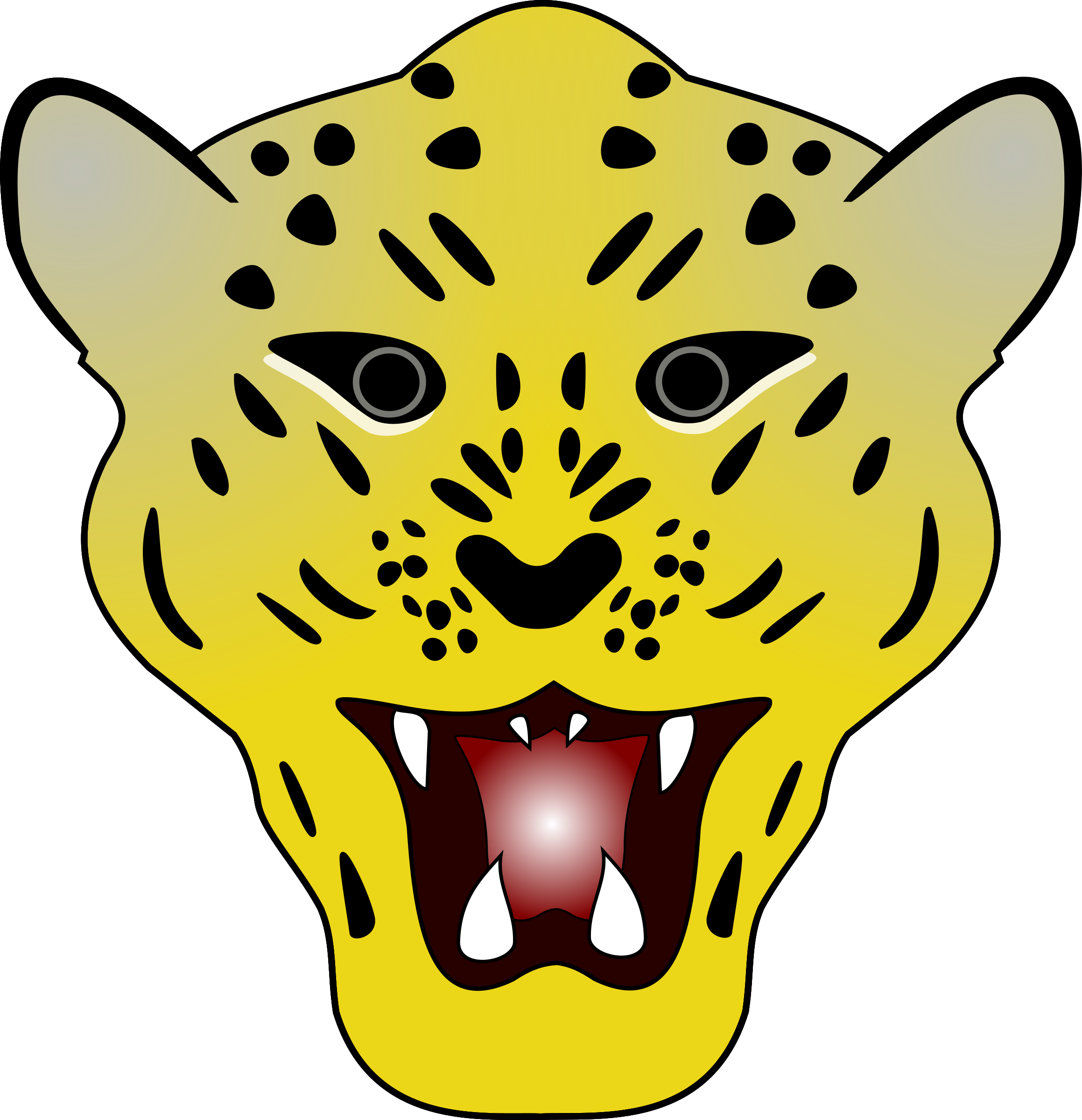Yellow head . Leopard clipart vector