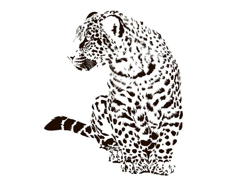 Leopard clipart vector. Svg silhouette graphics illustration