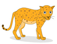 Leopard clipart. Free clip art pictures
