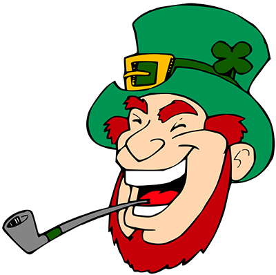 Leprechaun clipart. Laughing